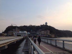 江の島弁天橋を歩く