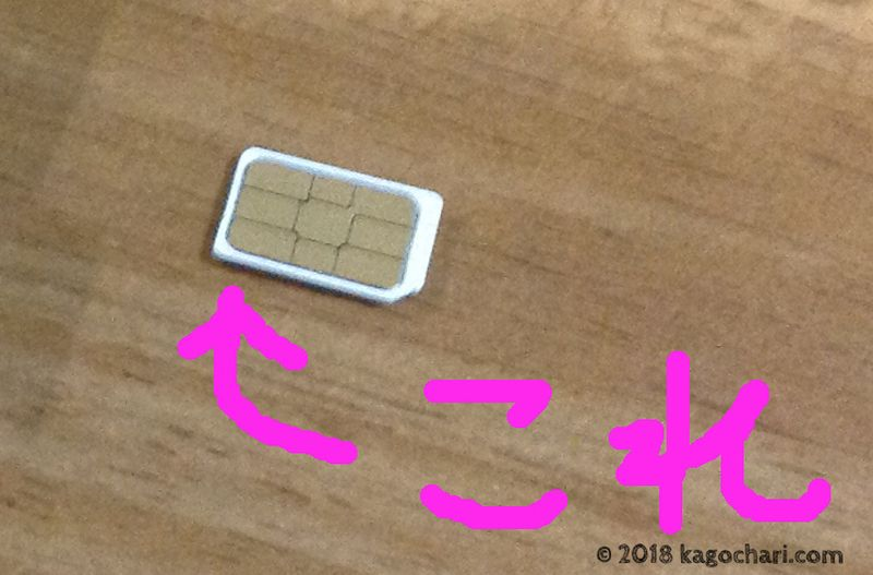 DTIのSIMカード画像