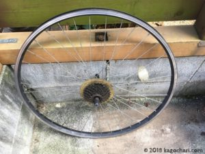 タイヤ、チューブを外した後のホイール画像
