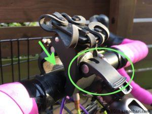 自転車用スマホホルダー台座取り付けの画像-01
