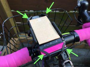 自転車用スマホホルダー台座取り付けの画像-04