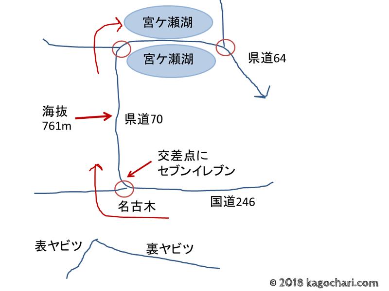 ヤビツ峠手書き地図