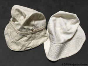 綿と麻の帽子表側