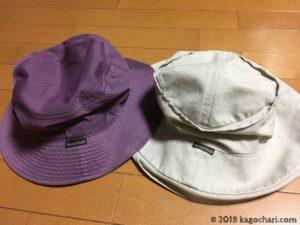 出歩く時に使用する帽子の画像