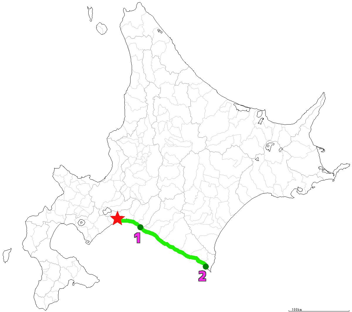 北海道2日目はえりも町まで