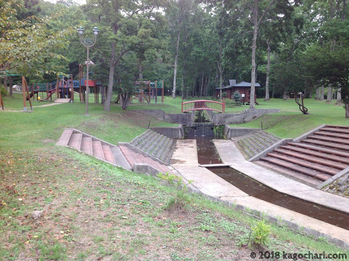 うらほろ森林公園-小川