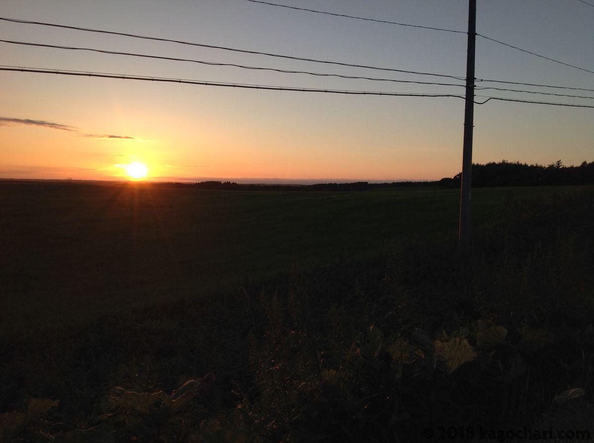 厚床でみた夕陽