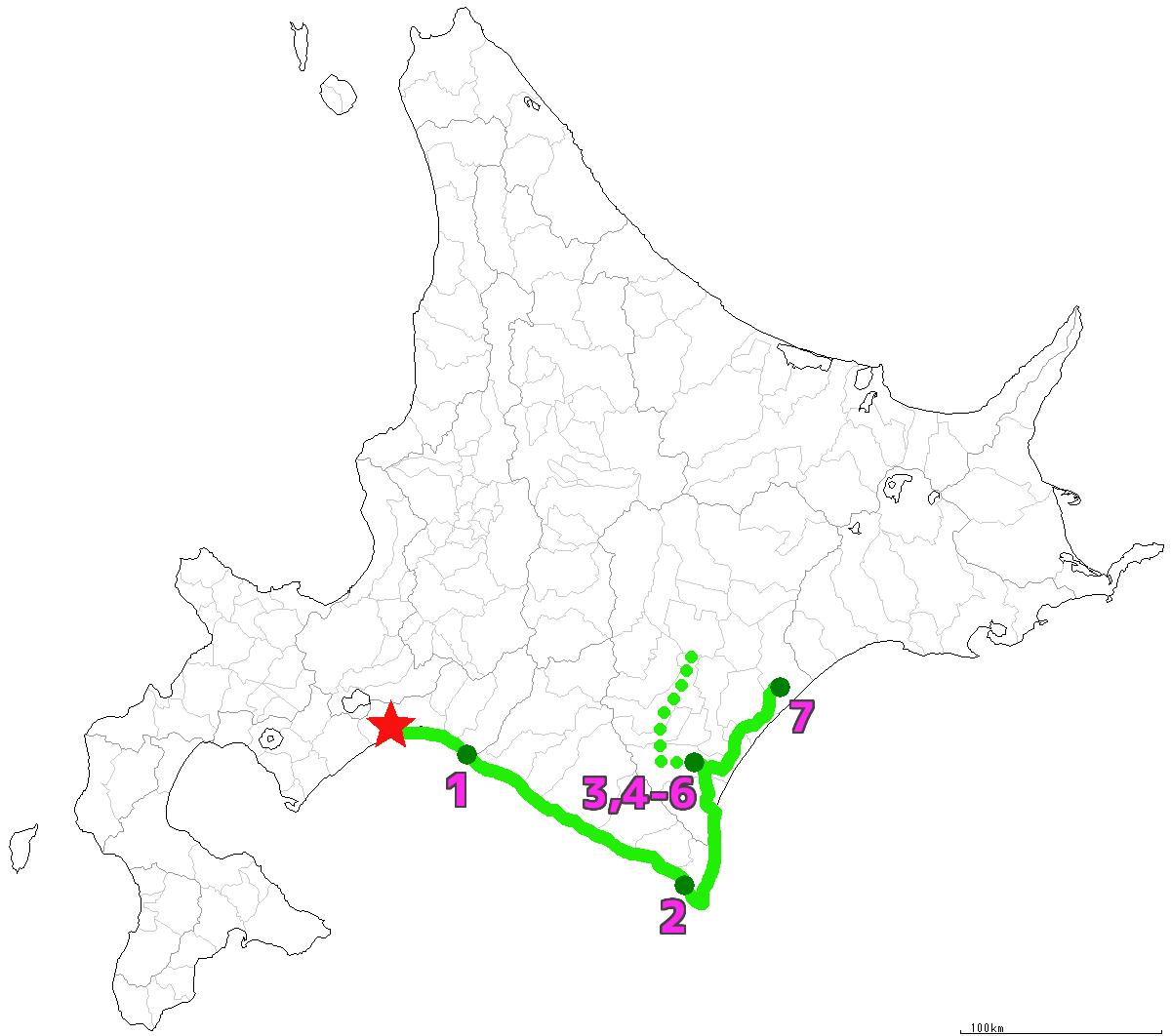 北海道7日目終了
