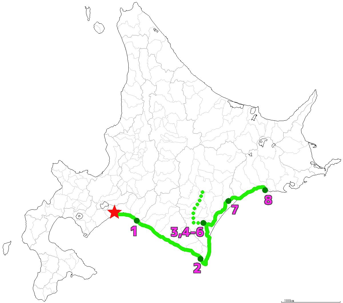 北海道8日目終了