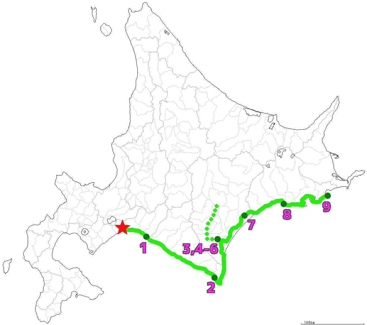 北海道9日目終了