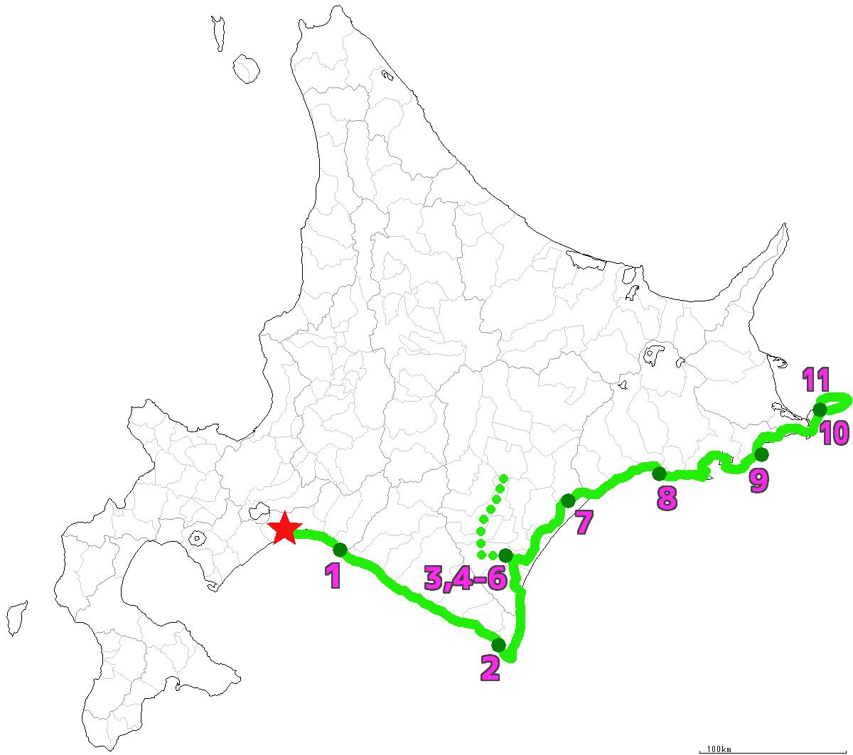 北海道11日目終了