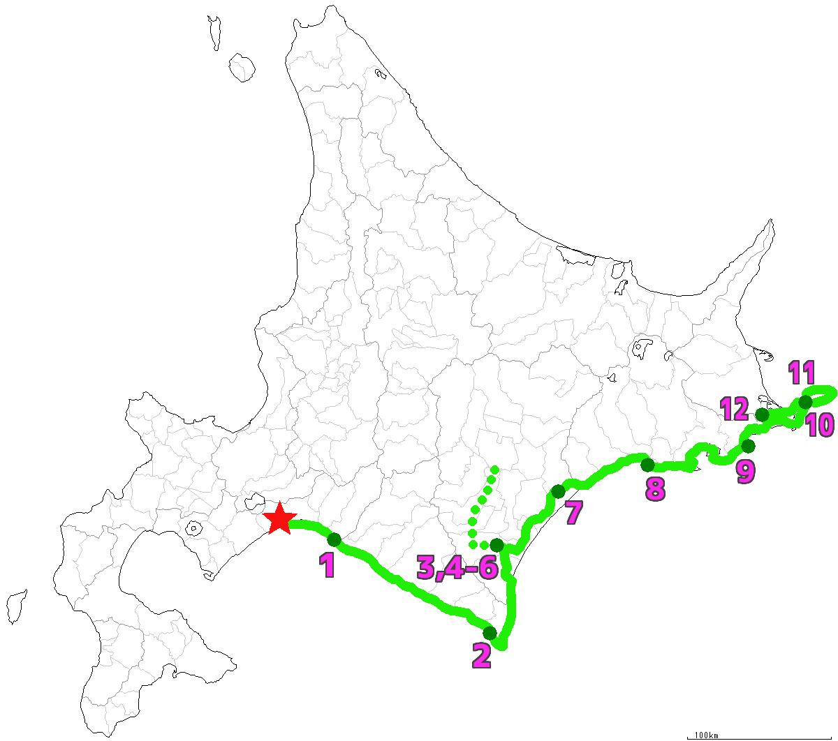 北海道12日目終了