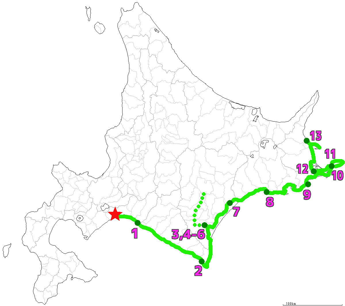 北海道13日目終了