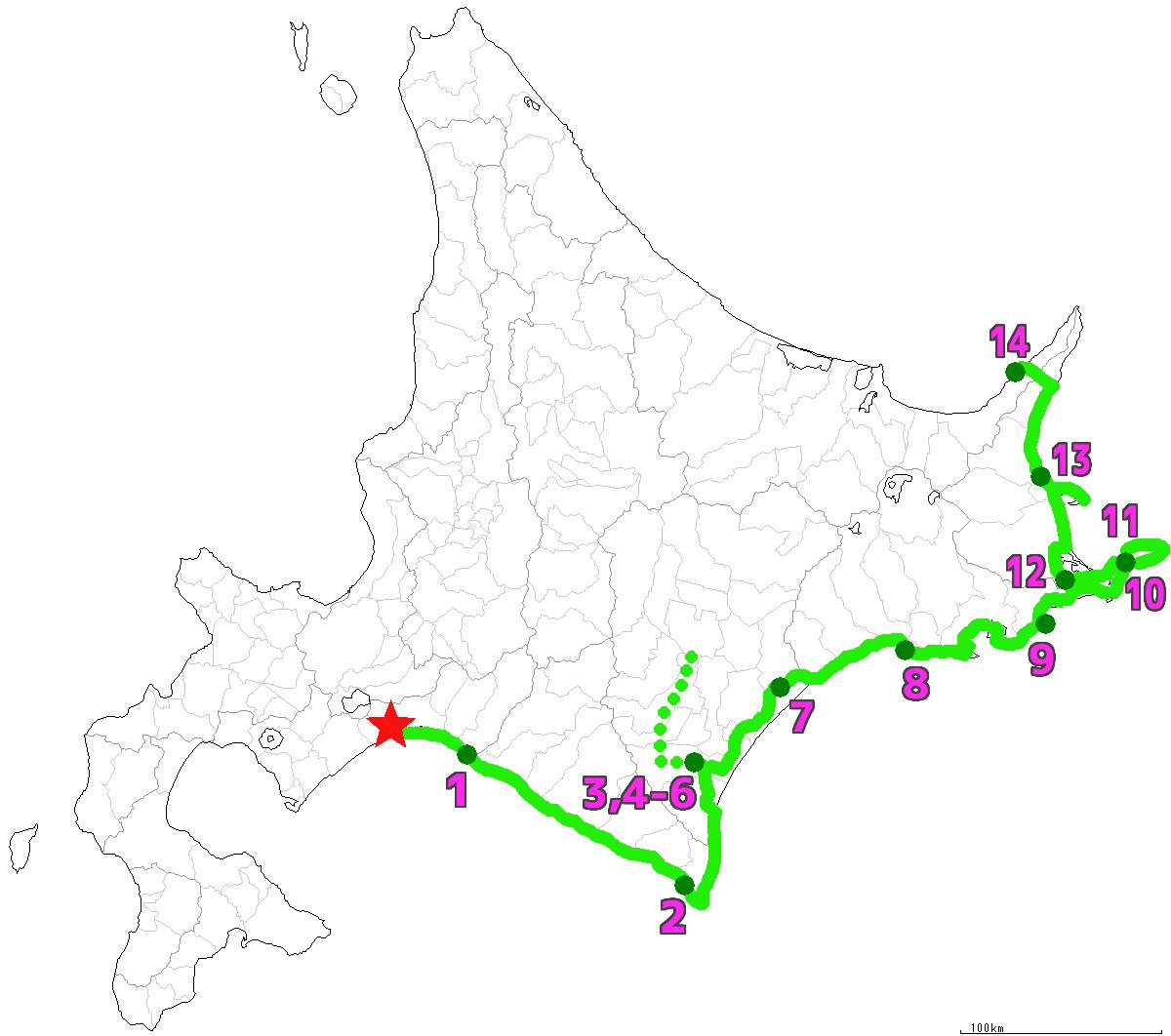 北海道14日目終了