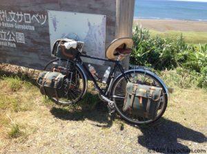 利尻礼文サロベツ国立公園で出会った旅人の自転車