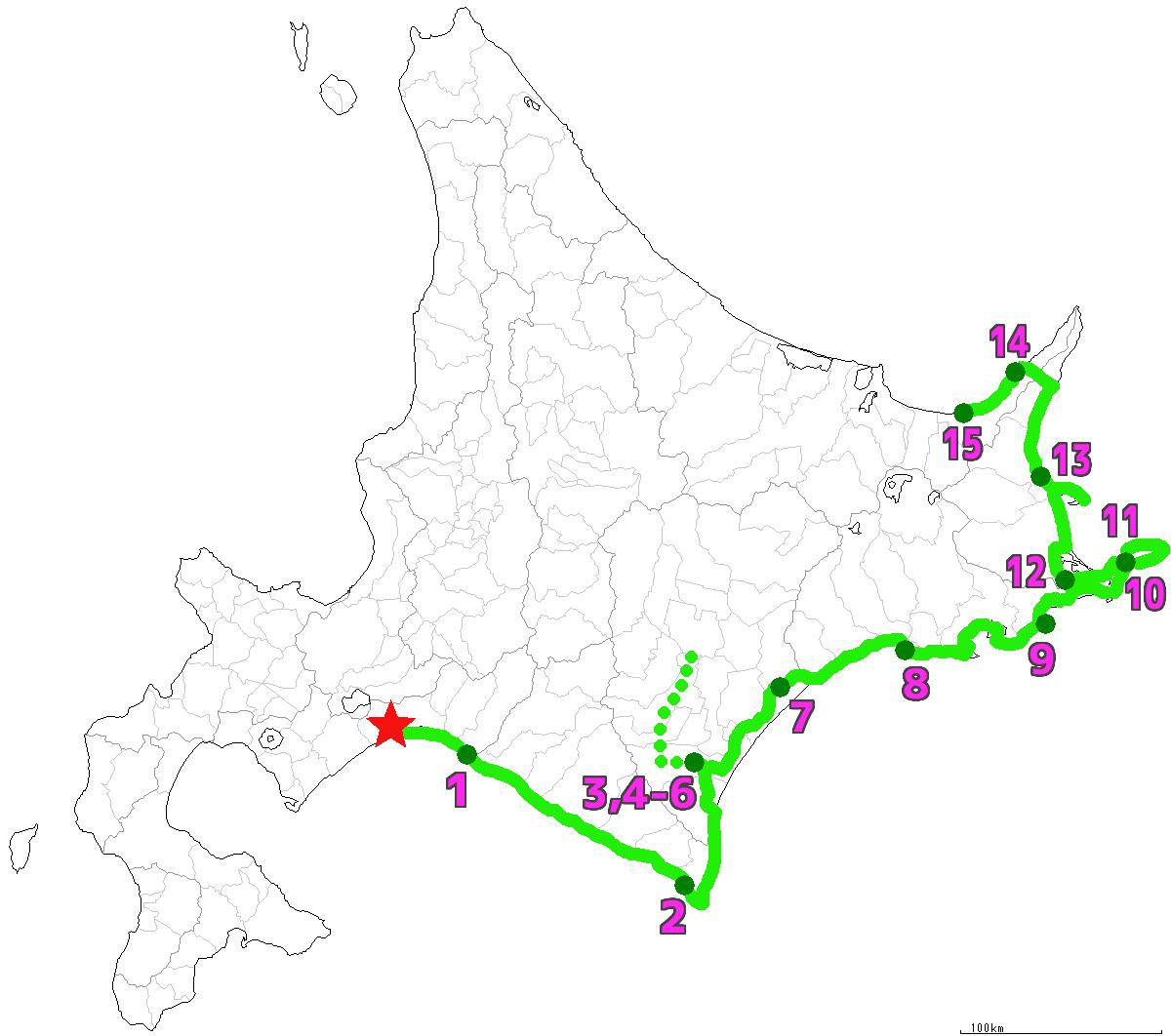 北海道15日目終了