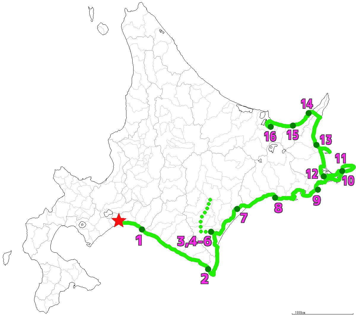 北海道16日目終了