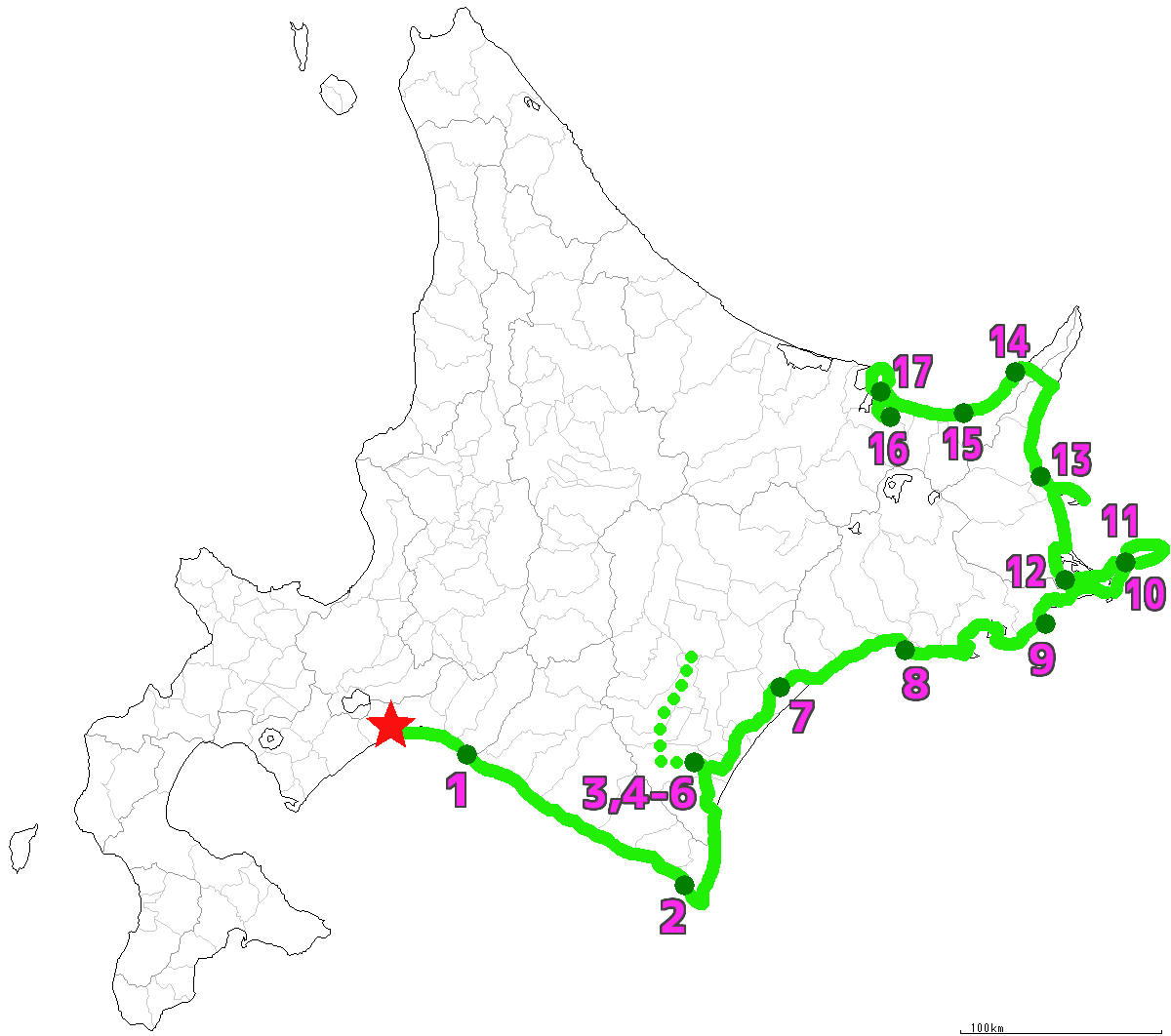 北海道17日目終了