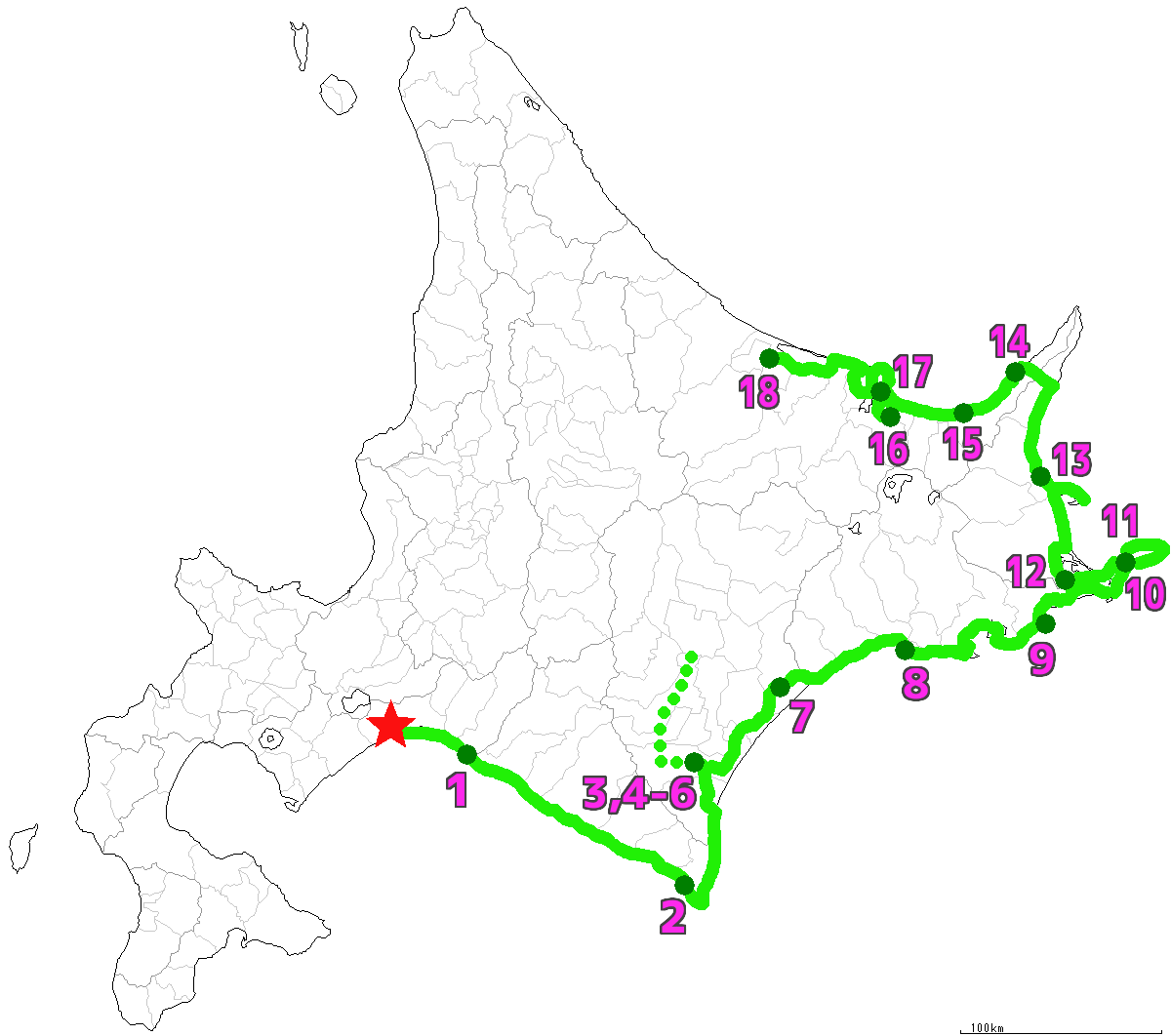 北海道18日目終了