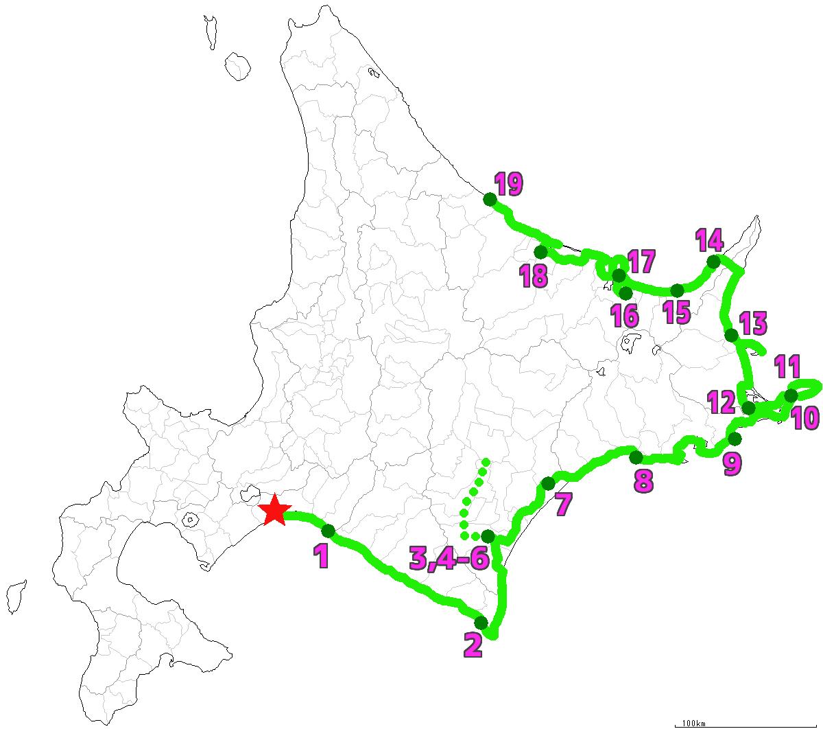 北海道19日目終了