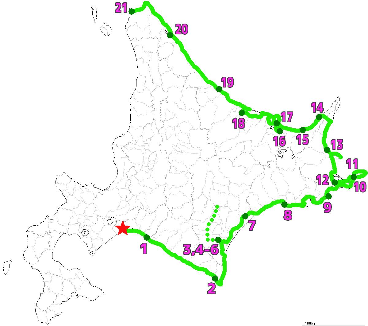 北海道21日目終了