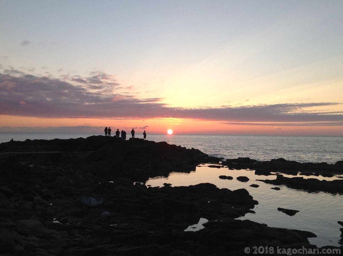 黄金岬の夕日