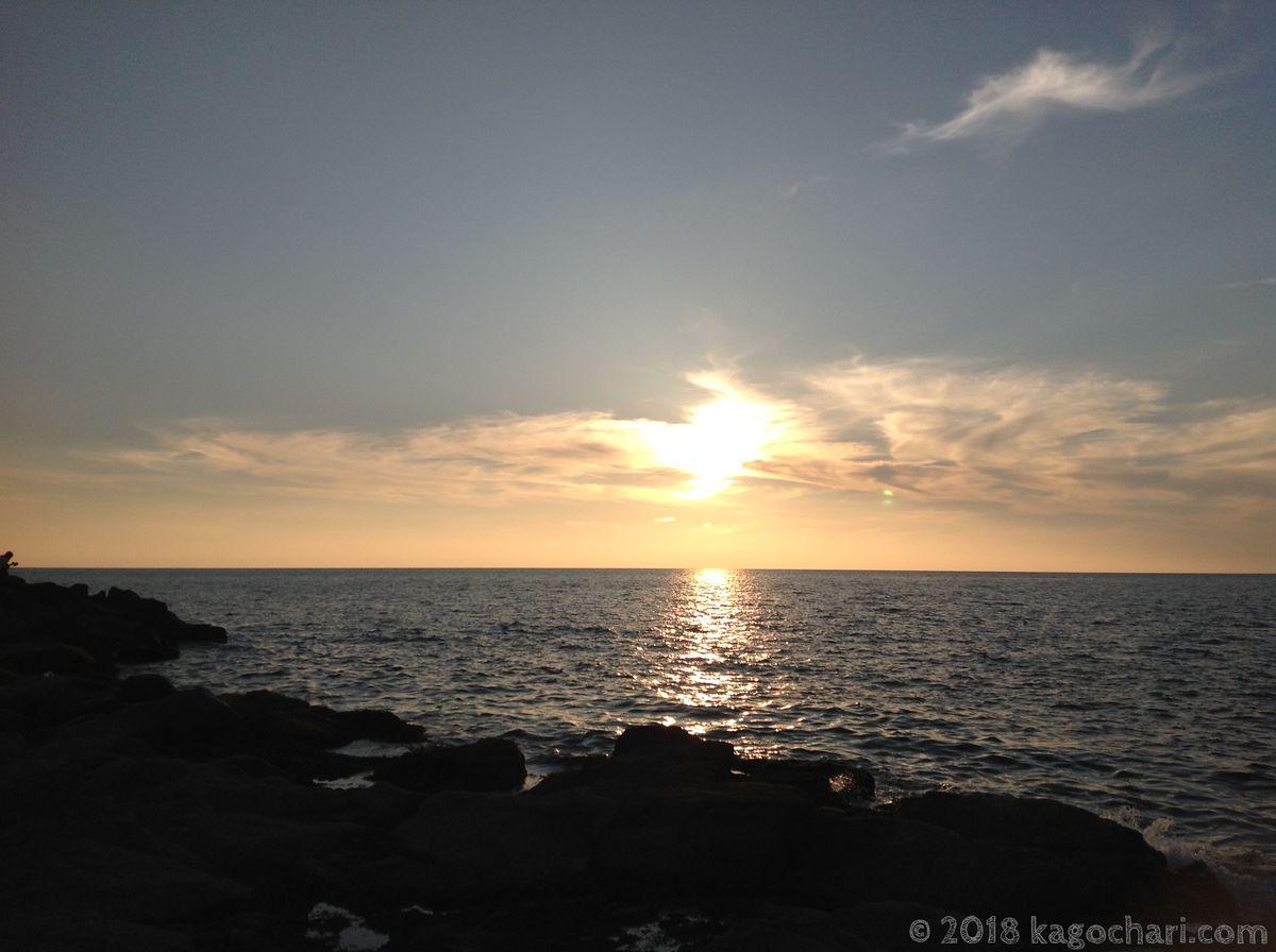 黄金岬の夕日-01