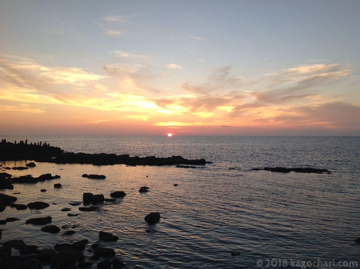 黄金岬の夕日-03