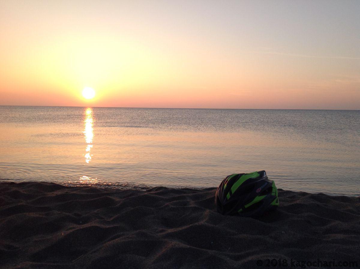 石狩-はまなすの丘公園付近の夕日