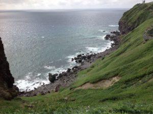 神威岬の海-南側