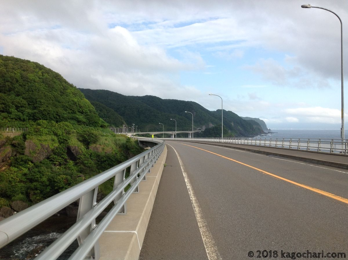 積丹半島-南側の道路