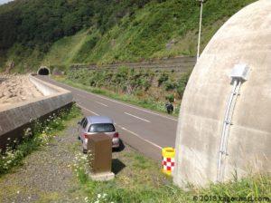 太田トンネル防波堤横