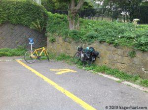 函館山自転車置き場