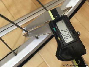 スポークの太さを計測する