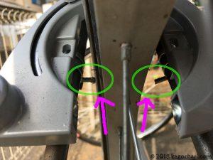 リングロック(馬蹄錠)の左右の隙間に違和感がある
