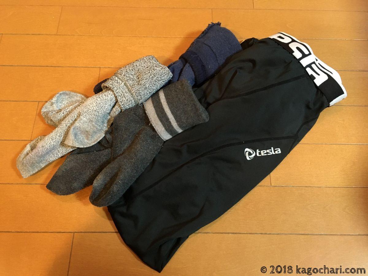 自転車冬の服装-スキー用靴下